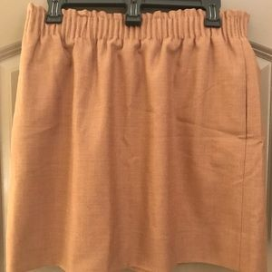 Camel colored wool skirt from J. Crew